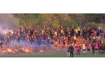 """Феновете на """"Миньор"""" (Пк) запалиха стадиона след победата в Самоков"""