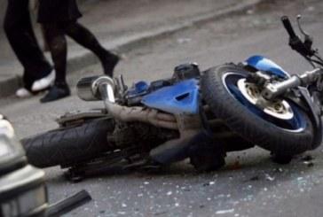 """Линейка хвърча към ул. """"Дунав"""" в Гоце Делчев! Моторист се заби в автомобил"""