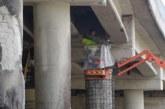 """Започна ремонтът на горелия мост на АМ """"Струма"""" край Дупница"""