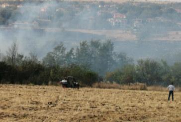 Огнен ужас! Пожар бушува  край търновско село