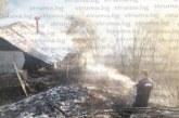 Огнен ад над Благоевград! Пожар погълна 4 къщи, на ръце вадят 97-г. баба от дома й