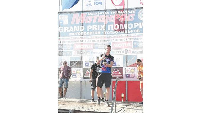 Ас на благоевградчани с двойна победа край Поморие, дупнишки моторист два пъти втори в същия клас
