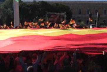 Хиляди протестираха срещу независимостта на Каталуния в Мадрид