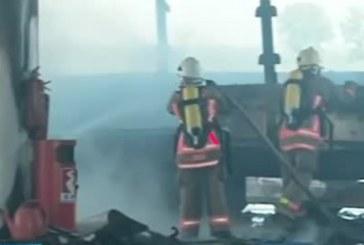 Огнен ужас в Петрич!  Автомобил пламна при катастрофа