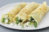 Солени палачинки с шунка и аспержи