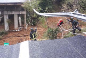Магистрала рухна след проливните дъждове в Италия