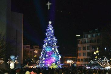 Елхата в центъра на Благоевград грейва празнично на 5 декември