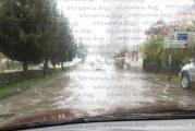 Улици в Сандански под вода от проливния дъжд