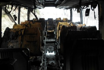 Автобус с 51 пътници се запали в движение