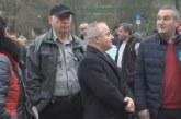 Жителите на Мелник излязоха на протест, искат Наско Петев за кмет
