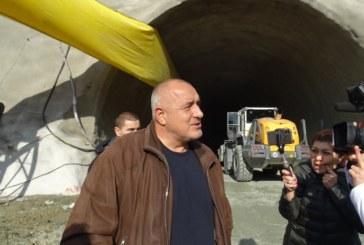 "Борисов инспектира строежа на тунел ""Железница"""