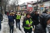 """Протест на перничани """"Сурва от Перник"""" на жълтите павета заради водната криза"""