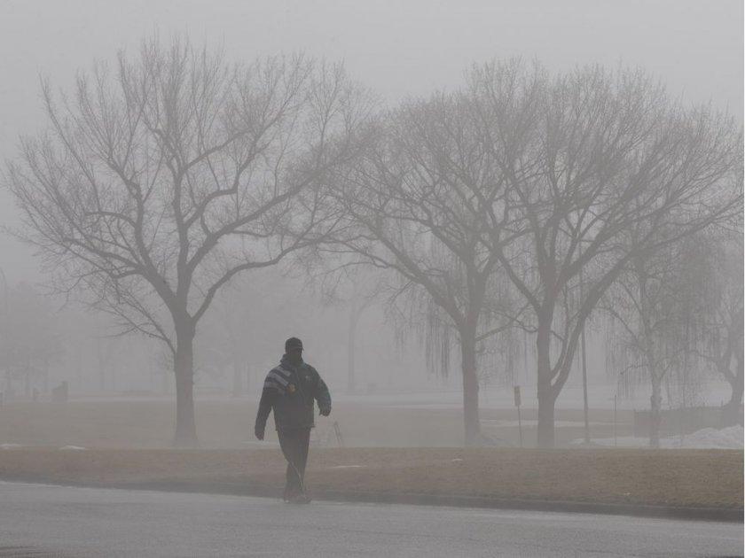 Мъглива и облачна сряда