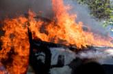 """Огнен ад! Кола се запали на АМ """"Хемус"""""""