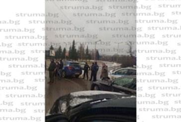 Протестно автошествие по улиците на Перник, жандармерия заварди изхода за магистралата