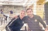 Кресненецът Десподов рамо до рамо с хърватската  футболна легенда Сърна