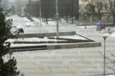 Мълнии и гръмотевици над Перник, за минути всичко побеля