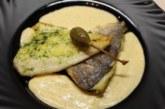 Филе от ципура с магданозено песто и сос от горчица