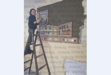 Гимназията по икономика грейна с цветно пано, дело на учителката по изобразително изкуство, художничката Д. Гошева