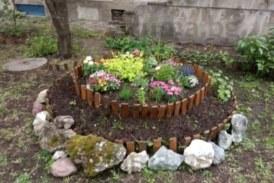 """Зам. областният на Перник Иво Иванов превърна в цветна градина двора на блока си в """"Твърди ливади""""."""