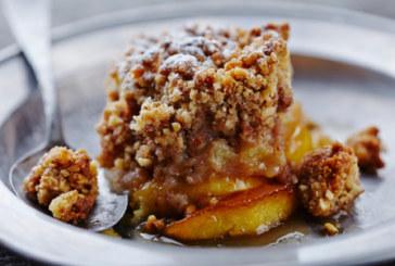 Ябълков сладкиш с овесени ядки