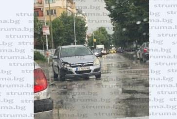 Две коли в сблъсък при гарата в Благоевград
