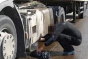 """Източиха горивото на тир, паркиран край АМ """"Струма"""""""