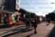 Загърнат в трикольора, Венци Мишката държа реч на протеста в Благоевград