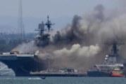 Взрив избухна на боен кораб, ранени са над 20 моряци