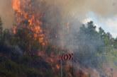 Голям пожар бушува край Първомай, огънят е близо до къщите