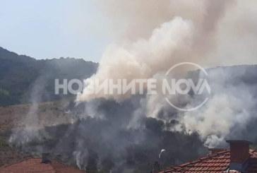 Голям пожар бушува край Кричим