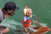 6-месечно бебе кара водни ски