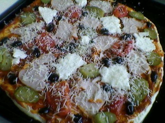 Пица с шунка, сирене и кашкавал