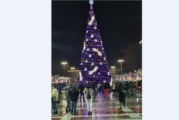 Запалиха светлините на коледната елха в Благоевград