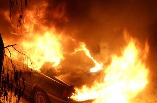 Автомобил пламна в санданско село