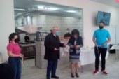 В благоевградската гимназия по туризъм откриха първия в страната учебен ресторант, единадесетокласникът Д. Грънчарски изненада гостите с лимонов тарт