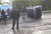 Зрелищна катастрофа  в центъра на Перник