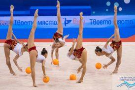 Ансамбълът ни по художествена гимнастика грабна златото на топки на Европейското във Варна